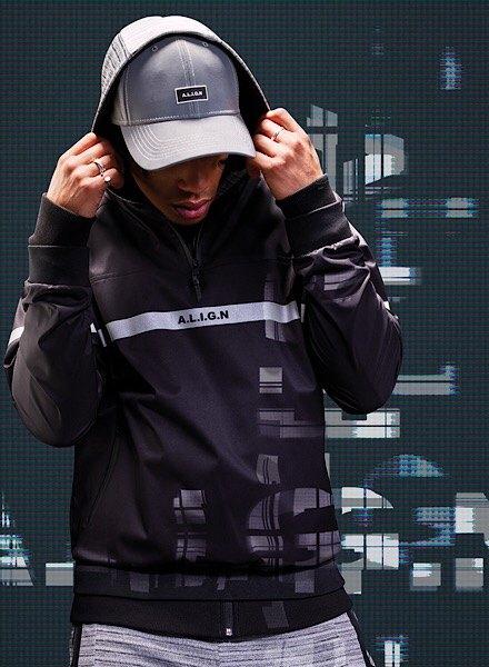 Align black 1/2 zip hoodie