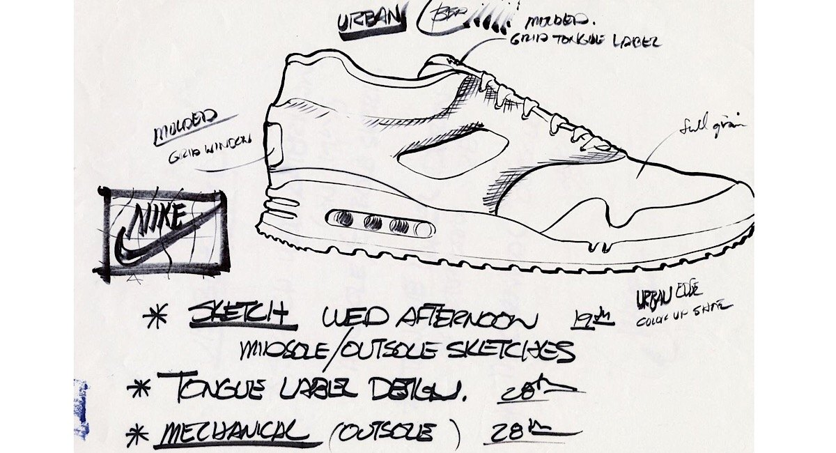 Nike Air Max 1 sketches