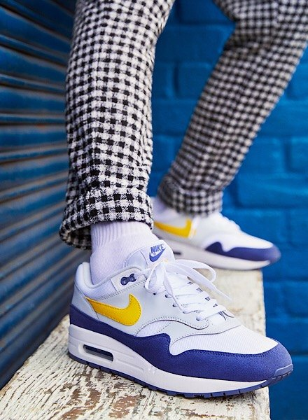 Air Max 1 in white, blue and yellow