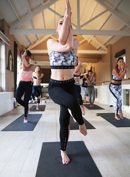 Krystal Roxx leading yoga