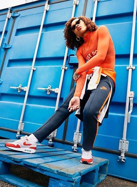red and grey Nike Air Max 1