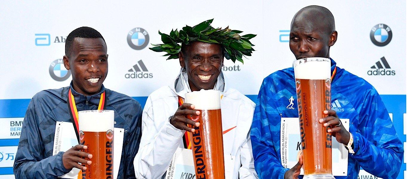 Berlin marathon top 3 runners