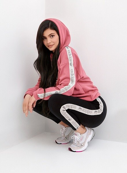 kylie in adidas leggings