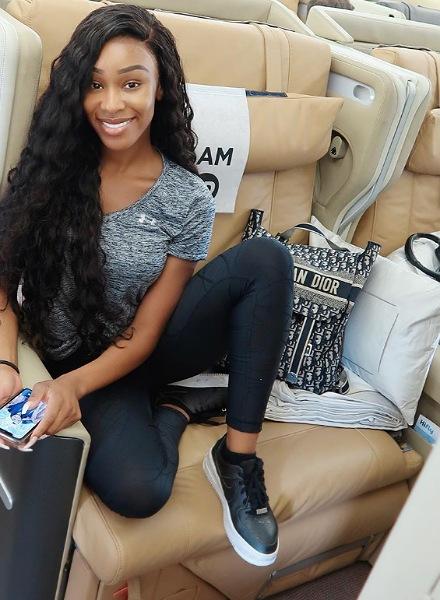 influencer on plane